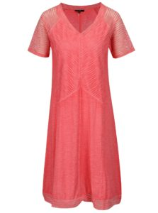 Ružové melírované šaty s krátkym rukávom Yest