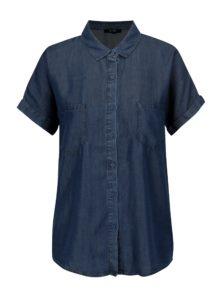 Tmavomodrá rifľová košeľa s krátkym rukávom Yest