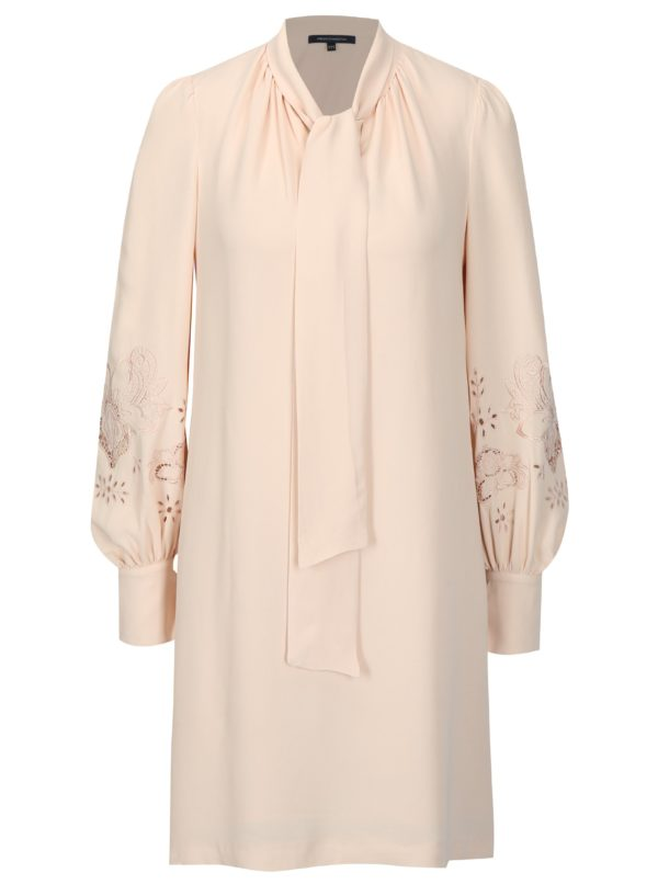 Ružové šaty s dlhým rukávom French Connection Arimi