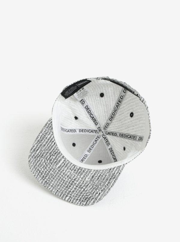 Čierno-biela vzorovaná šiltovka Dedicated Zig Zag