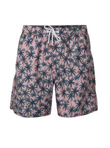 Zeleno-ružové plavky s palmami Dedicated Beach Palms