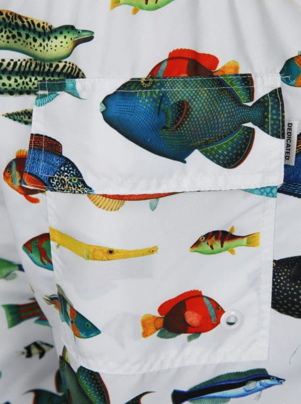 Biele plavky s rybami Dedicated Tropical Fish
