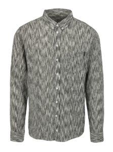 Krémovo-sivá vzorovaná košeľa Dedicated Glitch