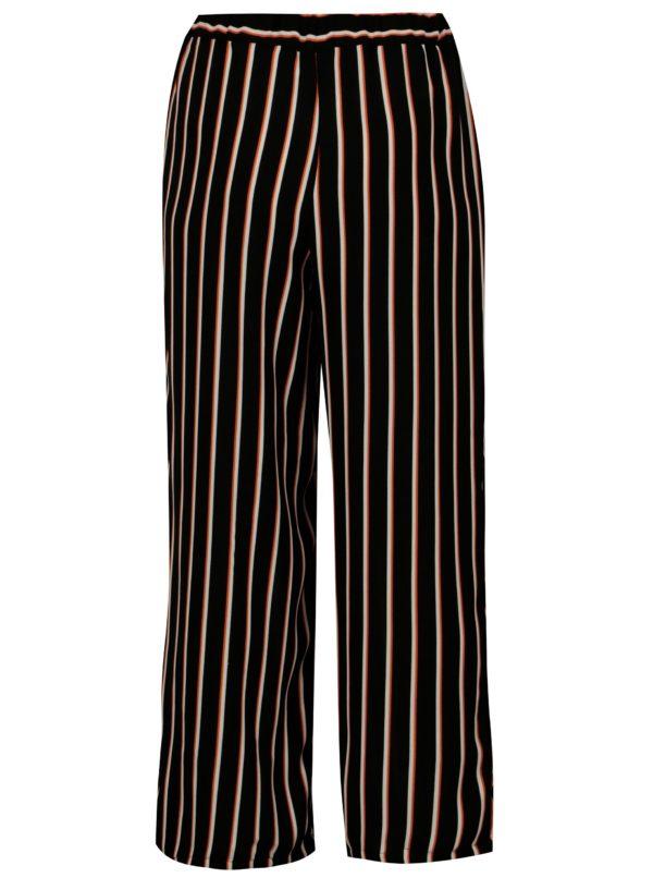 Krémovo–čierne pruhované nohavice s vysokým pásom Blendshe Nora