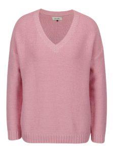 Svetloružový sveter s véčkovým výstrihom Blendshe Jelma