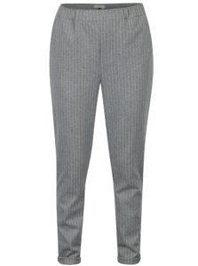 Sivé pruhované nohavice s vreckami Blendshe Liza