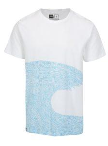 Biele tričko s potlačou Dedicated Word wave