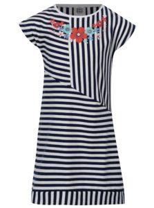 Modro-biele dievčenské pruhované šaty tuc tuc Jersey