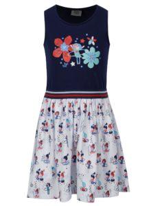Modro-biele dievčenské šaty bez rukávov tuc tuc Combined Jersey