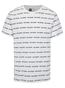 Biele tričko s potlačou Dedicated Fuck Racism Stripes
