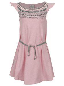 Svetloružové melírované dievčenské šaty s opaskom tuc tuc Jersey