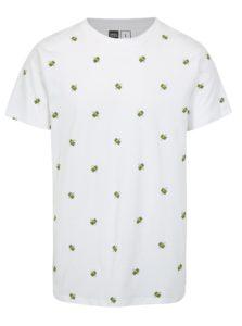 Biele tričko s potlačou Dedicated Flying Dollars