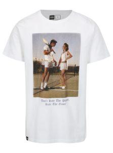 Biele tričko s potlačou Dedicated Player