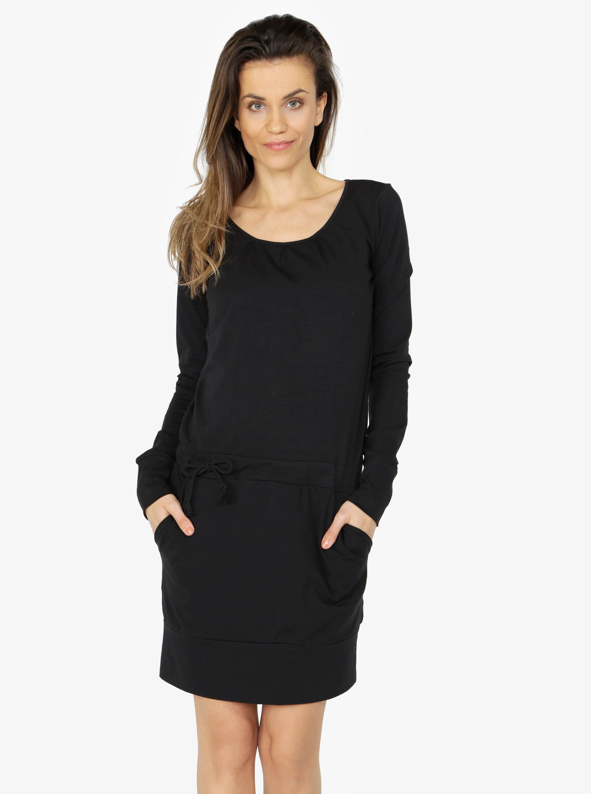 431ba26f45d6 Čierne šaty s dlhým rukávom ZOOT
