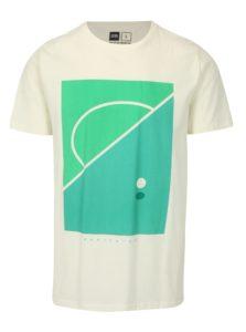 Krémové tričko s potlačou Dedicated Football field