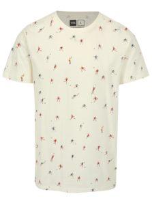 Krémové tričko s potlačou Dedicated Futbol