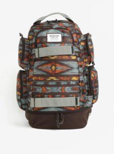 Hnedý vzorovaný batoh Burton Distortion 29 l