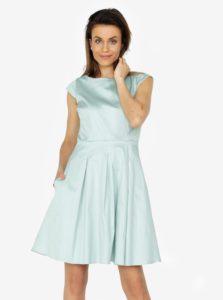 Mentolové šaty s áčkovou sukňou ZOOT