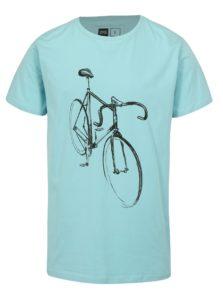 Svetlomodré tričko s potlačou  Dedicated Drawn Bike