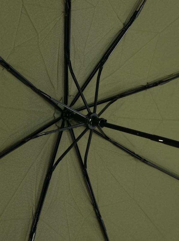 Khaki skladací dáždnik s.Oliver
