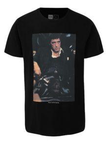 Čierne tričko s potlačou Dedicated Scarface trust