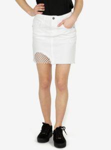 Biela rifľová minisukňa Noisy May Nicole