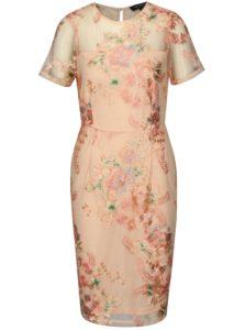 Ružové puzdrové šaty s výšivkou Dorothy Pekrins