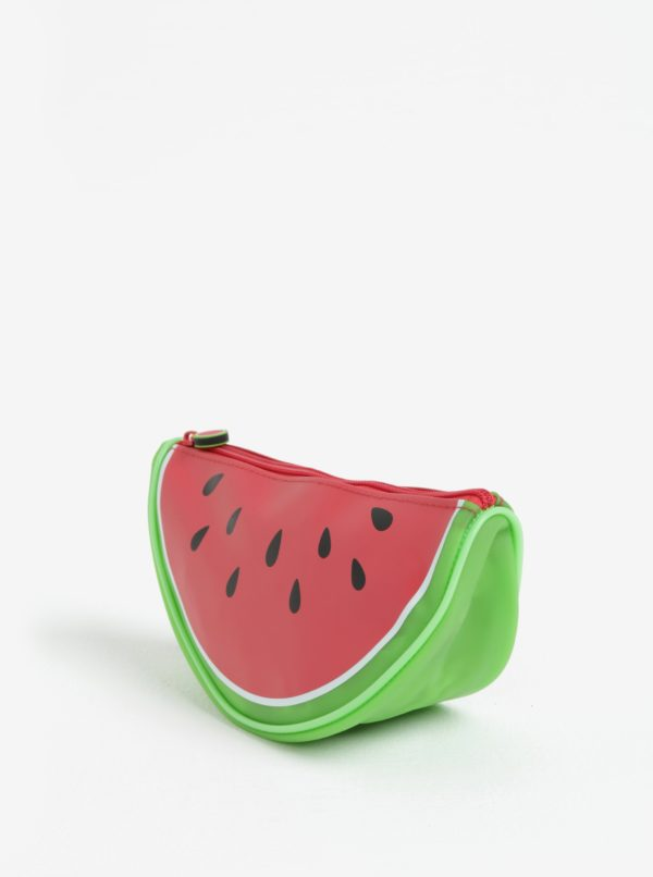 Červená kozmetická taštička v tvare melóna Gift Republic