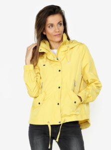 Žltá oversize bunda s kapucňou VERO MODA Classy