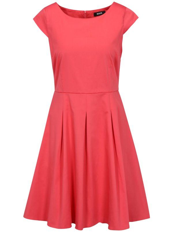d072817323de Ružové šaty s áčkovou sukňou ZOOT