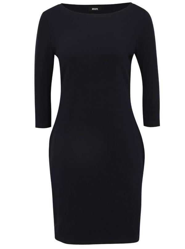 Tmavomodré šaty s 3/4 rukávom ZOOT