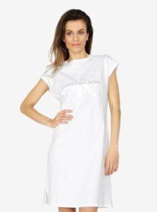 Biele šaty s potlačou Calvin Klein