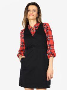 Čierne minišaty s véčkovým výstrihom Calvin Klein Jeans