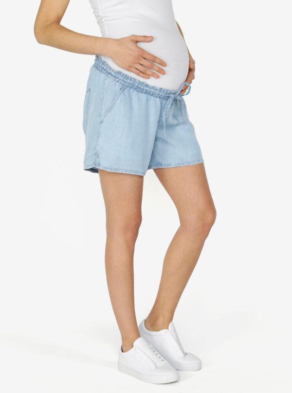 Svetlomodré tehotenské kraťasy s nízkym pásom Mama.licious Nesli