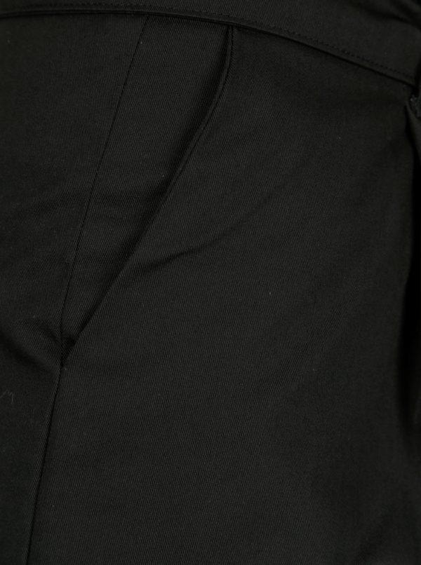 Čierne skrátené nohavice s vysokým pásom Kaya with Love Havel