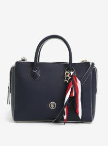 Tmavomodrá dámska kabelka so šatkou Tommy Hilfiger