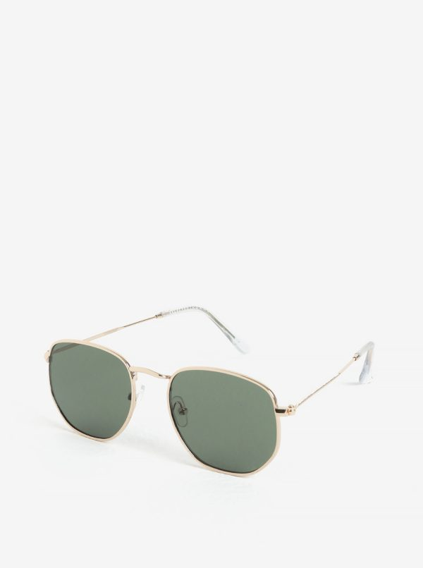 Slnečné okuliare s obručami v zlatej farbe Selected Homme Steven