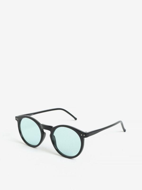 Čierne okrúhle slnečné okuliare Selected Homme Sunday