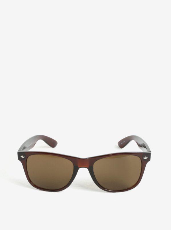 Tmavohnedé slnečné okuliare Selected Homme Steven