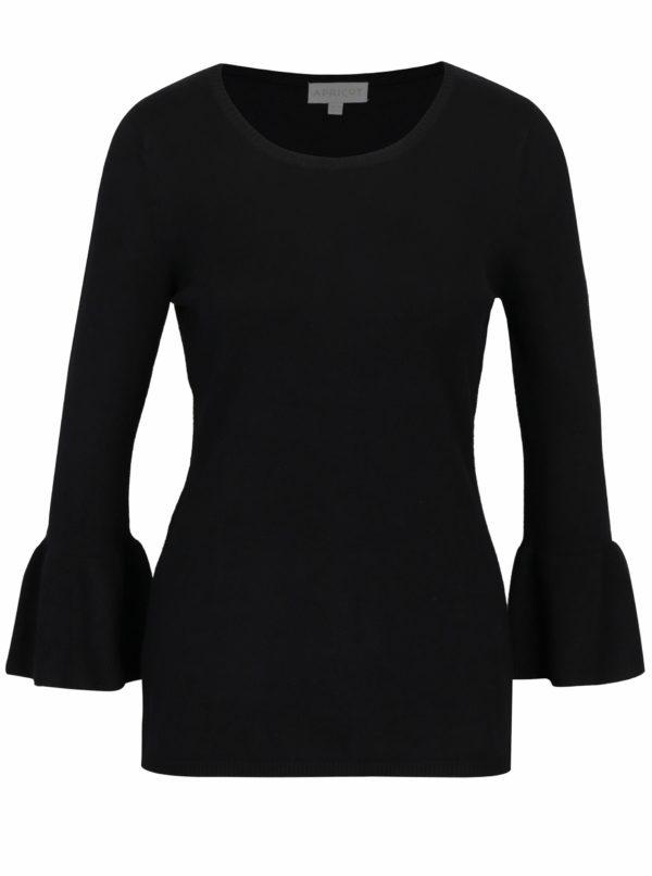 Čierny sveter s volánmi na rukávoch Apricot