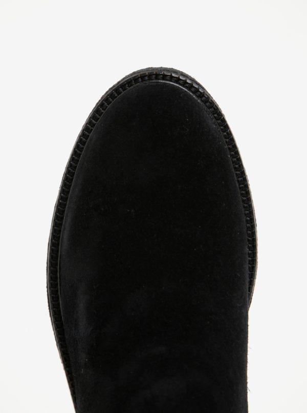 Čierne dámske semišové členkové topánky Vagabond Christy