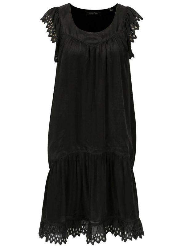 Čierne šaty s čipkou Scotch & Soda