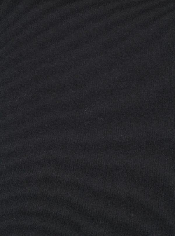 Čierna mikina s viazaním v dekolte Ulla Popken
