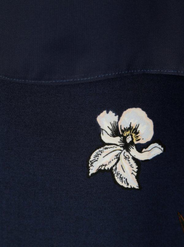 688976eb14 Tmavomodré kvetované šaty s dlhým rukávom Dorothy Perkins