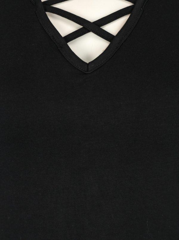 29bae71b7ece Čierne tričko so šnurovaním v dekolte TALLY WEiJL
