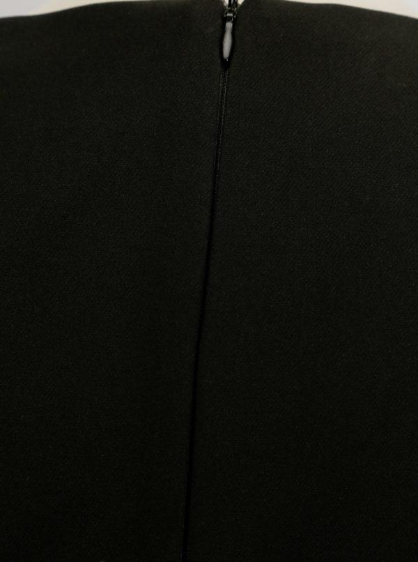 Čierne puzdrové šaty NISSA