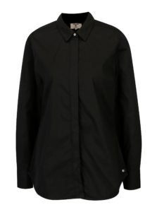 Čierna dámska košeľa so skrytou légou Garcia Jeans