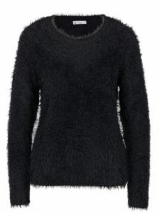 Čierny chlpatý sveter Jacqueline de Yong Kane