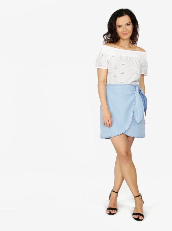 Svetlomodrá zavinovacia sukňa VERO MODA Zuri