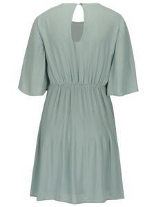 Svetlozelené šaty s 3 4 rukávom VERO MODA Amanda db08027d006
